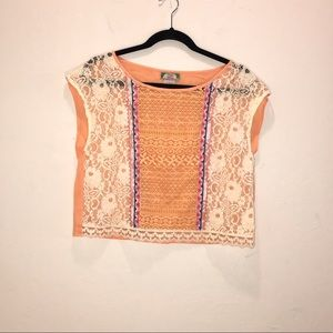 Flying Tomato lace top. Size Large